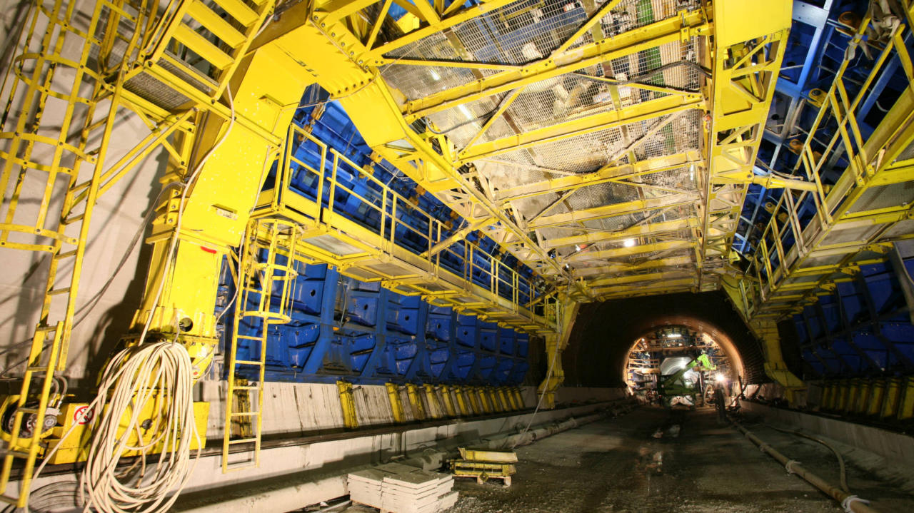 Euroform conventional formwork for tunnelling